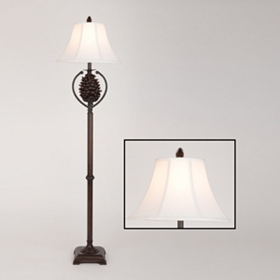 Brown Pine Cone Floor Lamp