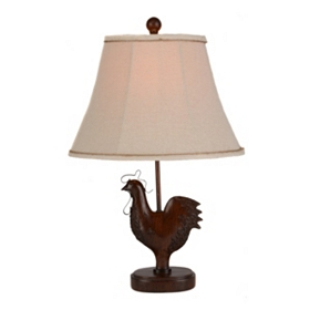 Cherry Rooster Table Lamp