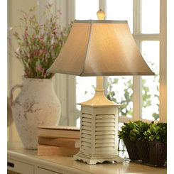 Whitewashed Shutter Table Lamp