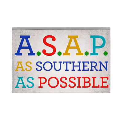 As Southern As Possible Word Block