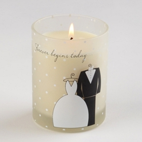 Forever Begins Today Wedding-Themed Candle