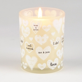 Just Married Vanilla Jar Candle