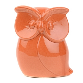 Orange Dolomite Owl Figurine