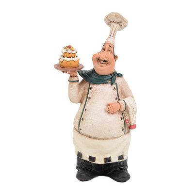 Bistro Pastry Chef Statue