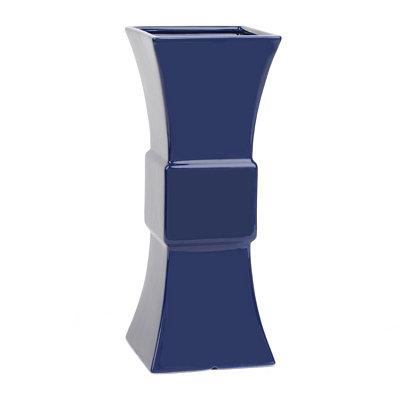 Ceramic Geometric Navy Vase