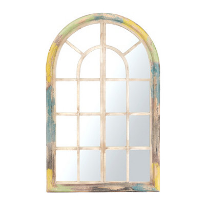 Multicolor Wood Decorative Mirror
