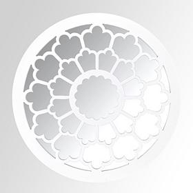 White Petal Decorative Mirror