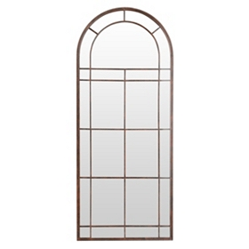 Distressed Brown Arch Mirror