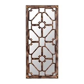 Distressed Natural Brown Decorative Mirror