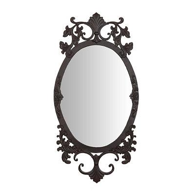 Antique Scroll Oval Decorative Mirror