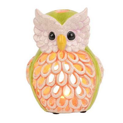 Ceramic Owl Candle Holder, 7.75 in.