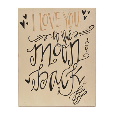Love You to the Moon Wooden Wall Plaque