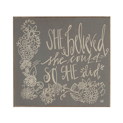So She Did Wooden Wall Plaque