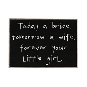 Today a Bride Wall Plaque