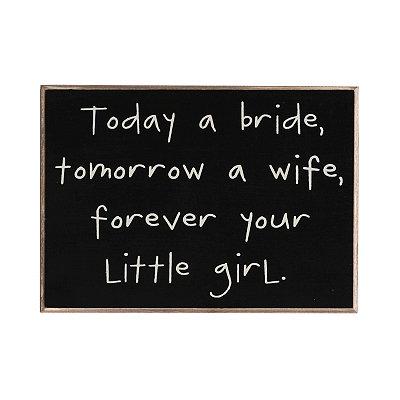 Today a Bride Wall Plaque