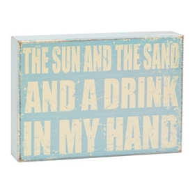 Sun & Sand Wooden Wall Plaque