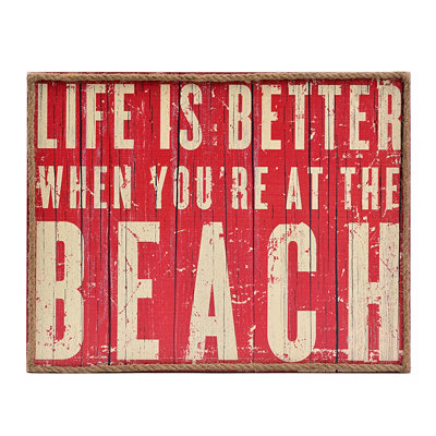 Life at the Beach Wall Plaque