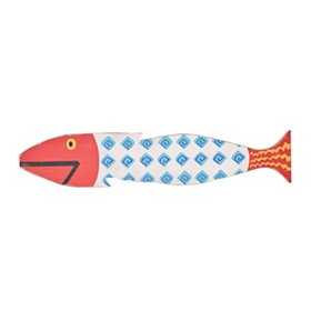 Red & Blue Fish Wall Plaque
