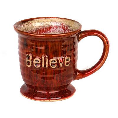 Red Glazed Believe Mug