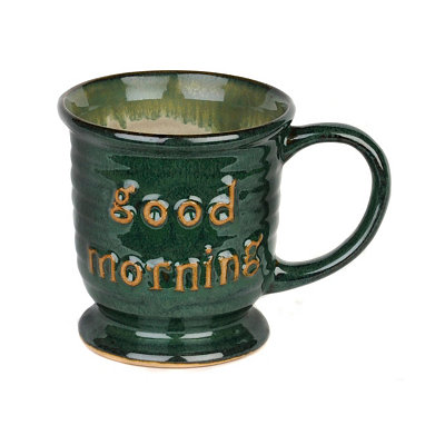 Green Good Morning Mug