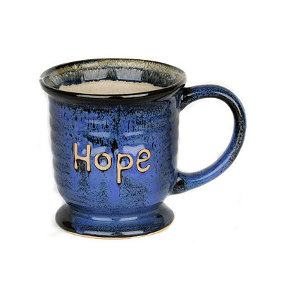 Blue Glazed Hope Mug