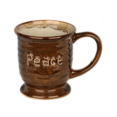 Brown Peace Mug