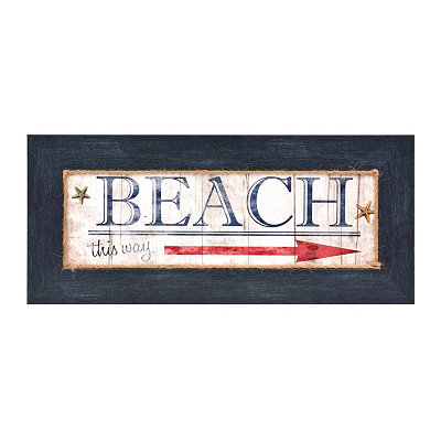 Beach This Way Framed Plaque