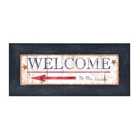 Welcome to the Beach Framed Plaque