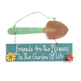 Flowers in the Garden of Life Sign