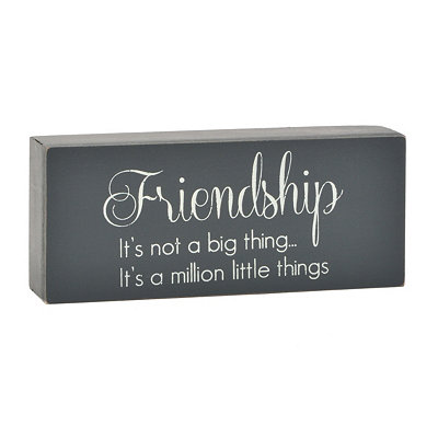 Friendship Word Block