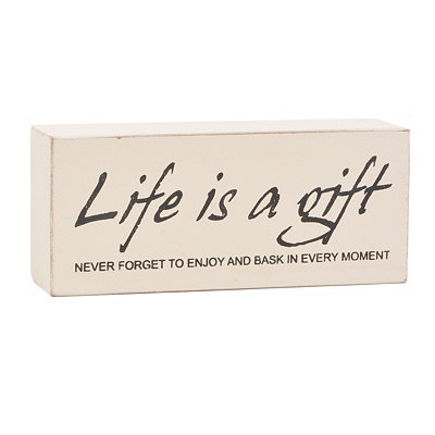 Life is a Gift Word Block