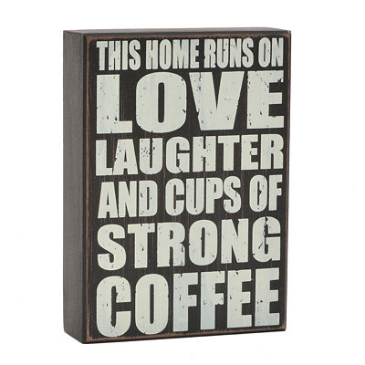 Love and Coffee Word Block