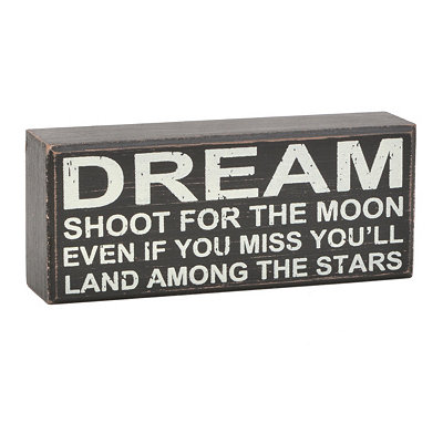 Shoot for the Moon Word Block