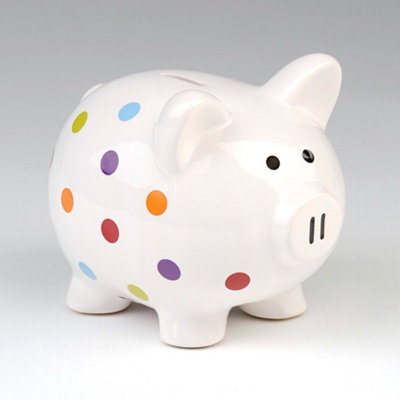 Pretty Polka Dots Piggy Bank