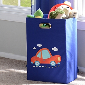 Blue Laundry Basket with Car