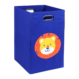 Blue Laundry Basket with Lion