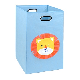 Light Blue Laundry Basket with Lion