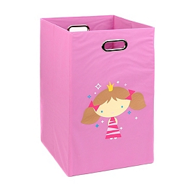 Pink Laundry Basket with Princess