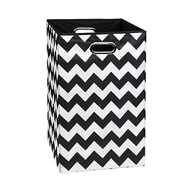 Black Chevron Laundry Basket