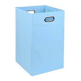 Solid Light Blue Laundry Basket