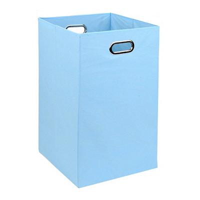 Solid Light Blue Laundry Basket