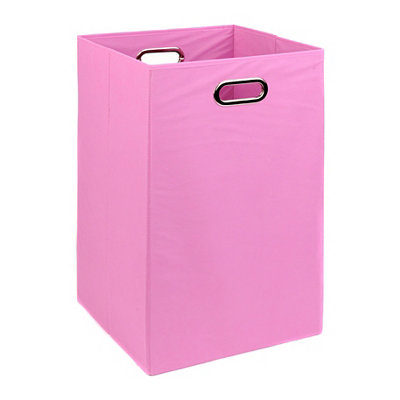 Solid Pink Laundry Basket