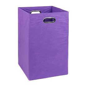 Solid Purple Laundry Basket