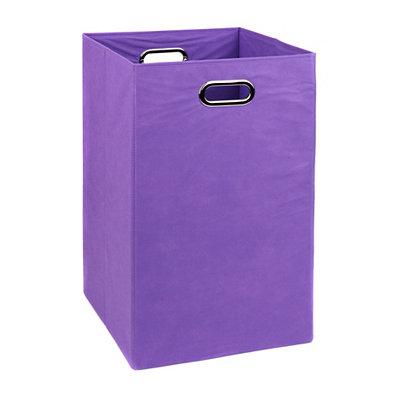 Solid Purple Laundry Basket