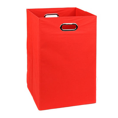Solid Red Laundry Basket
