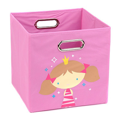 Pink Storage Bin with Princess