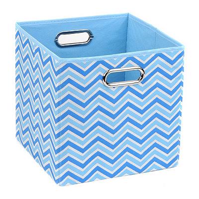 Blue Zig Zag Storage Bin