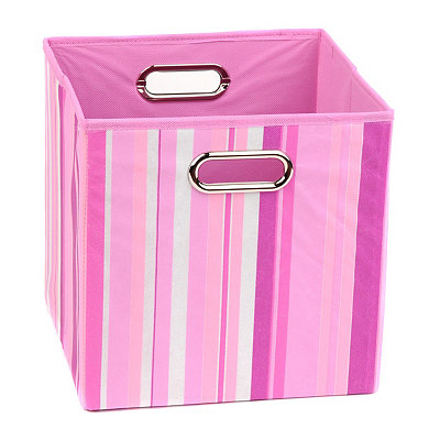 Pink Stripes Storage Bin