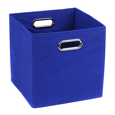 Solid Blue Storage Bin