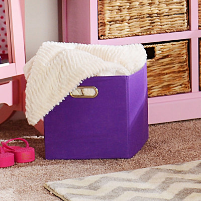Solid Purple Storage Bin